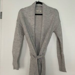 Gap Sweater/ Long Belted Cardigan Dove Gray